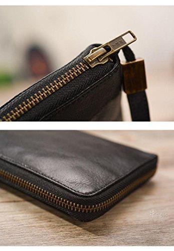 Geremen Wallet Brown Handmade Wallet Geremen Men's Bifold Leather Clutch Ms01 Handmade Bifold Ms01 Men's Brown Leather Clutch f8qw6ap