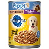 Pedigree Puppy Chopped Ground Dinner With Lamb & Rice Adult Canned Wet Dog Food, (12) 13.2 Oz. Cans