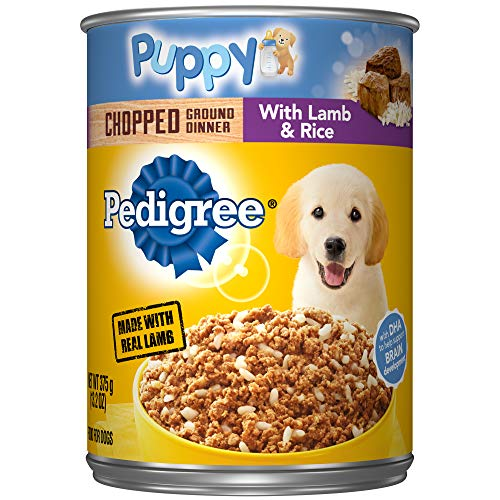 Pedigree Puppy Chopped Ground Dinner With Lamb & Rice Adult Canned Wet Dog Food, (12) 13.2 Oz. Cans ()