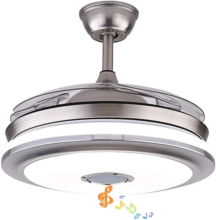 Pengfei Ventiladores de Techo Modernos de 42 con luz Altavoz ...