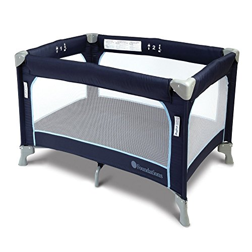 SleepFresh Celebrity Portable Crib, Regatta Blue, 0-36 Months by SleepFresh