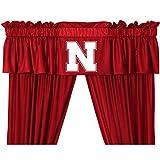 NCAA Nebraska Huskers – 5pc Jersey Drapes Curtains and Valance Set