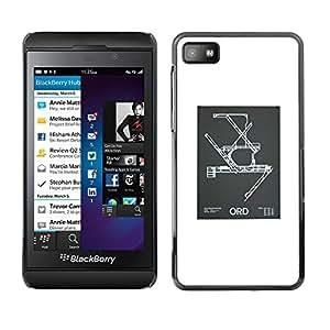 """For Blackberry Z10 Case , Modelo de la ingeniería del cartel Blanca"""" - Diseño Patrón Teléfono Caso Cubierta Case Bumper Duro Protección Case Cover Funda"""