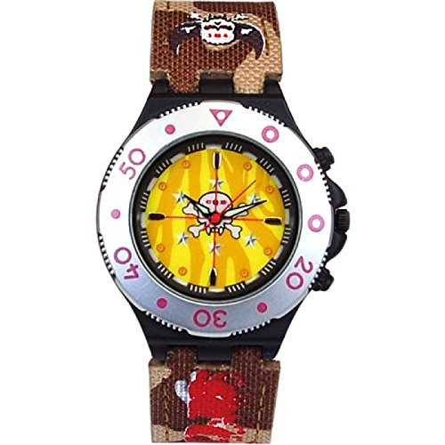 - Call Of Duty Boy's Brown Cameo Crosshairs Icon Analogue Watch