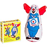 "Original Bozo the Clown Bop Bag Inflatable Punching Toy 7"" Small Desk Size"