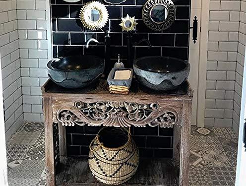 Tayasia Consola Exotica Tallada de Madera de Teca Mueble de ...