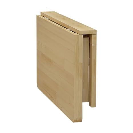 WNX Tavolo da pranzo pieghevole da parete in legno massiccio Tavolo ...