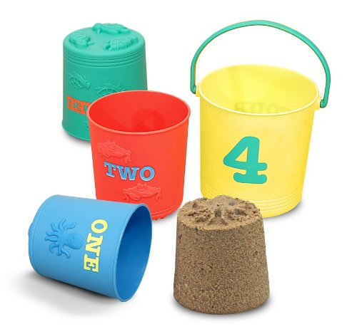 Melissa & Doug Sunny Patch Seaside Sidekicks Nesting Sand Pails ()