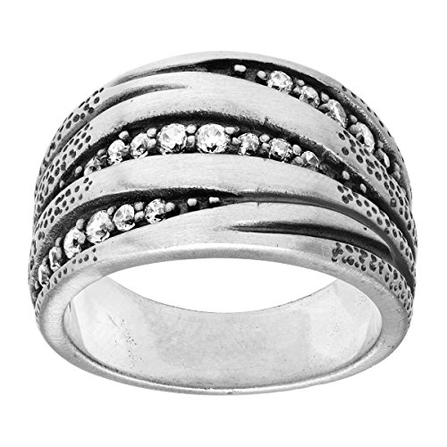 Silpada 'Organics' Sterling Silver and Cubic Zirconia Ring