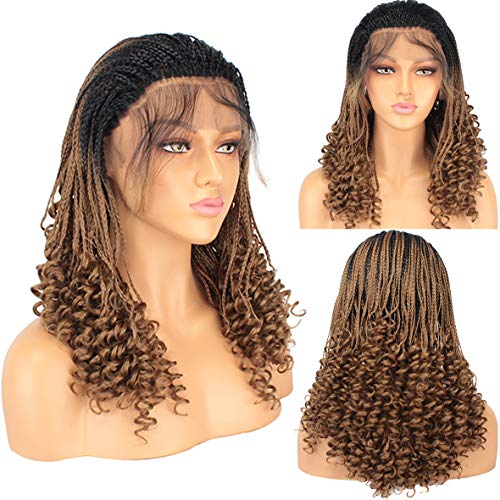 Leeven 20 Inch Micro Braids Wig With Curly