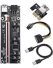 BEYIMEI PCI-E 1X naar 16X Riser Card, met 2ft USB 3.0 verlengkabel en 6PIN SATA voedingskabel - GPU Extender Riser Card - voor Bitcoin Litecoin ETH Ethereum Mining (VER009S-PLUS,1 Pack)