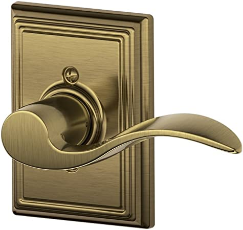 Satin Nickel Schlage F40ACC619ADD Addison Collection Accent Privacy Lever