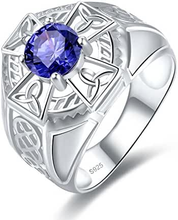 Statement Ring by Merthus | 925 Sterling Silver Irish Celtic Knot Love Tanzanite Ring