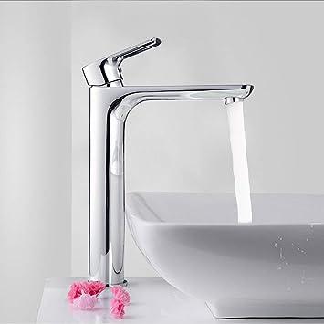 Robinet salle bain avec Haut Robinet lavabo pour Lavabo ou Vasque de Salle  Bain,Chaude et Froide Réglable de Mitigeur lavabo, Laiton Chromé(Garantie à  ...