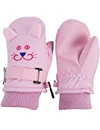 Little Kids and Baby Cute Animal Faces Waterproof Winter...