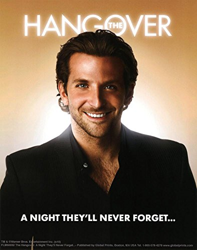 The Hangover Movie Bradley Cooper A Night They'll Never Forget Poster Print Masterprint MasterPoster Print, - Cooper Bradley Style
