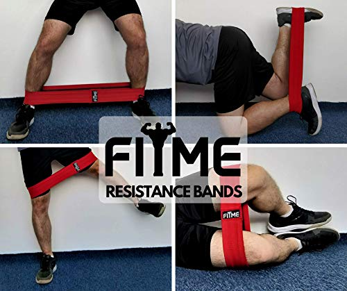 FITME Premium Exercise Resistance Workout Bands with Grip (Pack of 3 Sizes) - Exercise Guide and Carry Bag Included by FITME Sports (Image #2)
