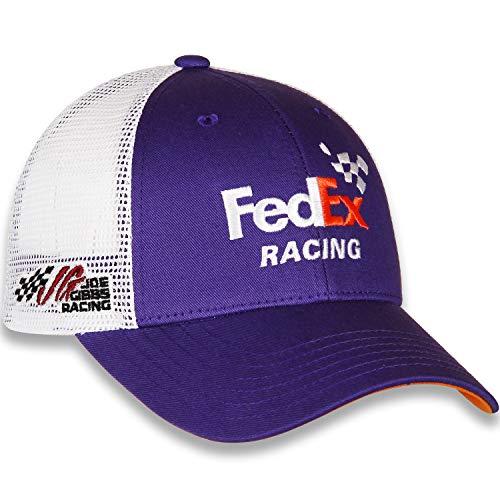 cdaccbca6c7f8 Checkered Flag 2019 NASCAR Vintage Sponsor Trucker Mesh Adjustable Hat Cap-Denny  Hamlin  11-FedEx
