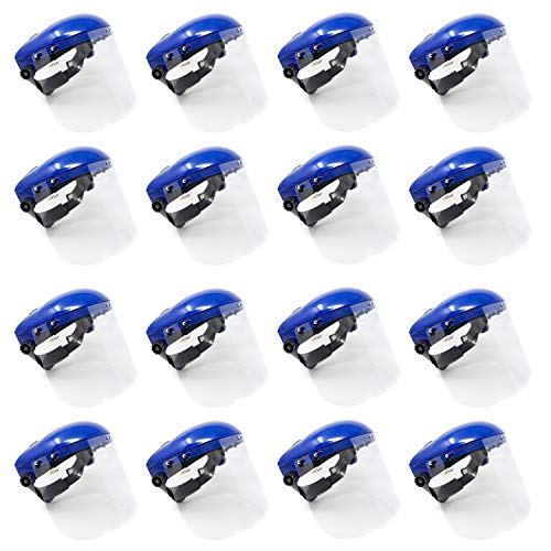 Safety Headgear with Clear Polycarbonate Face Shield (Case of 16)
