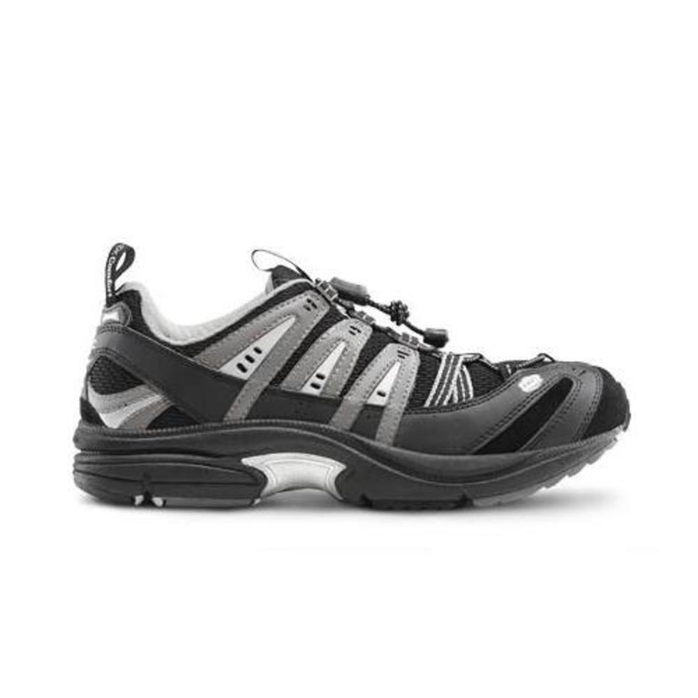 Dr. Comfort Performance-X Men's Therapeutic Diabetic Double Depth Shoe: Black 11.5 Wide (W/4E) Elastic & Standard Laces