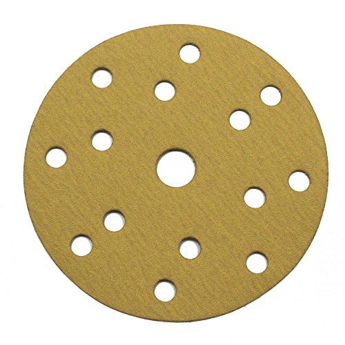 vielseitig einsetzbar f/ür optimales schleifen 15 Loch in gold Woltersberger/® 100 St/ück Exzenter Schleifscheiben /Ø 150mm Klett Schleifpapier Haft K/örnung P320