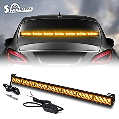 SMALLFATW 32 Inch 28 Led Traffic Advisor Emergency Warning Directional Strobe Flash Light Bar (Amber): Automotive