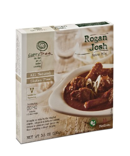 Curry Tree All Natural Gluten Free Spice Mix, Rogan Josh, 3.5-Ounce Boxes (Pack of 6)