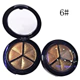 3 Colors Eyeshadow Natural Smoky Cosmetic Eye Shadow Palette Set Make Up Style : 6