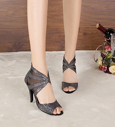 Minitoo - Zapatos con tacón mujer, Negro - negro, 35