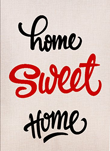 Flag Garden Home Welcome - Dyrenson Decorative Outdoor Home Sweet Home Garden Flag Double Sided, Welcome Quote House Yard Flag, Country Garden Yard Decorations, Seasonal Outdoor Flag 12 x 18 for Spring Summer
