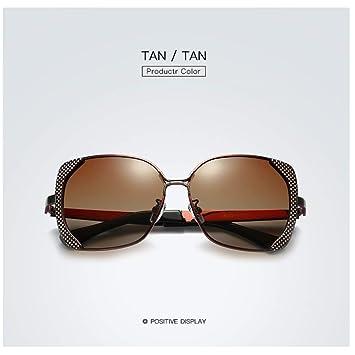 ZYDQ Gafas de Sol polarizadas Mujer Anti-UV 400 Adecuado ...
