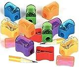 Fun Express Bulk Plastic Pencil Sharpener Assortment (144 Pack)