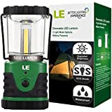 LE® 500lm Outdoor LED Lantern, 3 Modes, Portable, Battery Powered, IPX4, Shockproof/Skid proof, Home/Garden Lanterns for Hiking/Camping/Emergencies/Hurricanes/Outages