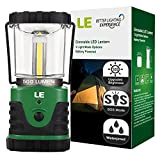 LE Ultra Bright 500lm LED Lantern, 9W, 3 Lighting Modes, Battery Powered, Water Resistant, Home, Garden and Camping Lanterns for Hiking, Camping, Emergencies, Hurricanes, Outages, LED Camping Lantern