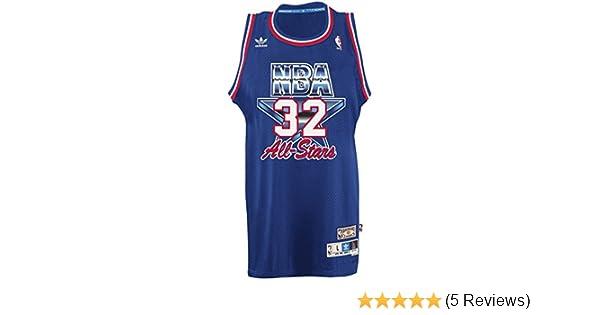 c63defe79d5 Amazon.com : Magic Johnson Los Angeles Lakers Adidas NBA 1992 All-Star Game  Swingman Jersey : Clothing