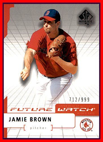 2004 SP Authentic #108 Jamie Brown FUTURE WATCH RC BOSTON RED SOX ROOKIE serial #712/999