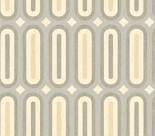 Beige Geometric Wallpaper - Wallpaper Modern Retro Oblong Geometric Gray Taupe Cream Beige