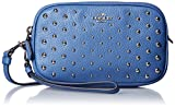 COACH Women's Ombre Rivets Crossbody Clutch Sv/Lapis Clutch