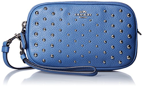 COACH Women's Ombre Rivets Crossbody Clutch Sv/Lapis Clutch by Coach