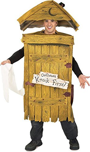 Outhouse Halloween Costumes (UHC Men's Comical Outhouse Outfit Funny Theme Fancy Dress Halloween Costume, OS)
