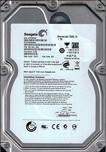 ST31000528AS P/N: 9SL154-302 F/W: CC38 WU 6VP Seagate 1TB