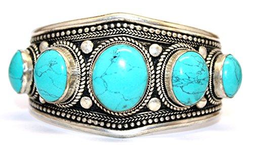 Boho Bracelet Turquoise Bracelet Nepal Cuff Bracelet Tibetan Bracelet Tibet Bracelet