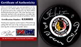 PSA/DNA Bobby Hull & Stan Mikita Autographed Signed Chicago Blackhawks Puck