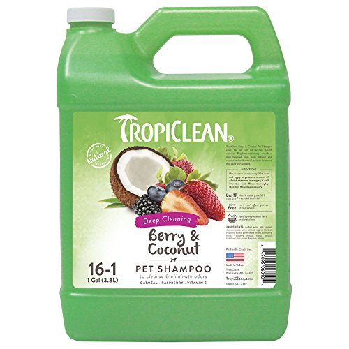 TropiClean Berry & Coconut Deep Cleaning Pet Shampoo, 1 Gallon (Coat Dog Gallon Conditioner)