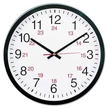 Amazon.com: NEW Universal 24-Hour Round Wall Clock - UNV10441: Home & Kitchen