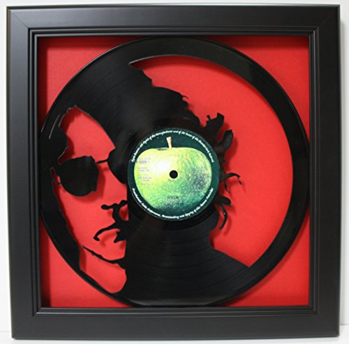 John Lennon Framed Laser Cut Black Vinyl Record in Shadowbox