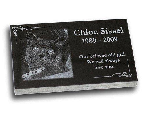(Small Standard Pet Grave Marker - Pet Headstones - Pet Gravestones - Pet Memorials)