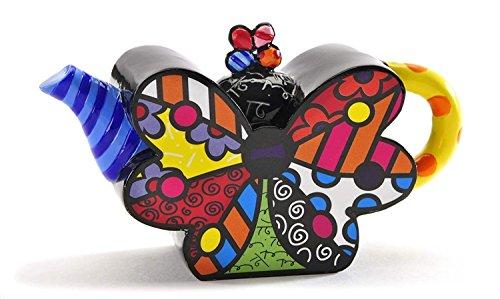 Romero Britto Decorative Mini Teapot Figurine- Butterfly Design