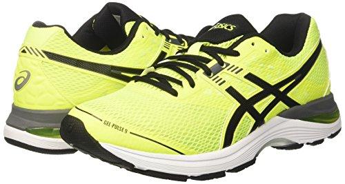 carbon Da Asics safety Uomo pulse Scarpe 9 Yellow Giallo black Running Gel x44IqwP