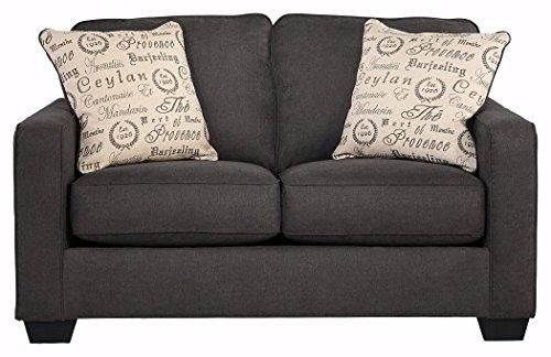 Swell Signature Design By Ashley Alenya Microfiber Upholstery Sofa W 2 Throw Pillows Quartz Lamtechconsult Wood Chair Design Ideas Lamtechconsultcom